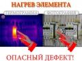 Перегрев автоматического выключателя обнаружен тепловизором
