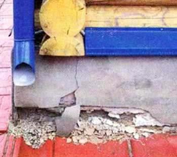 Ошибка строителей. Нарушение технологии строительства фундамента