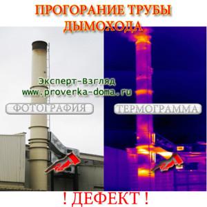 Тепловизионное обследование дымовой трубы